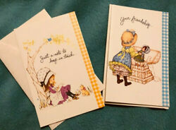 Vintage Stationary Betsy Clark 2 Greeting Cards With Verbiage Inside Heavy
