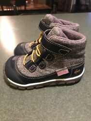 NEW See Kai Run Sam Navy Gray Water Proof Boot Toddler Boys Size 7 NICE $37.99