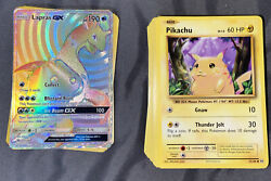 Pokemon Card Lot Of 100+ Cards Including 12 Holos