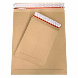 12.75x15 Inch 3200 Pack Kraft Stay Flat Cardboard Mailer Bend Resistant