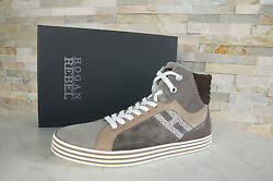 Hogan Rebel 44 10 High Top Sneakers Lace Up New Shoes Multi Previously