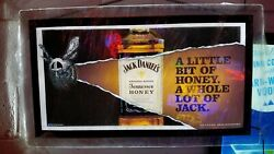Jack Daniels Tennessee Honey 🐝 Whiskey Led Lighted Bar Sign New In Box Man Cave