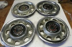 1968-69-70-71-72 Dodge Vintage Factory Oem Hubcap Wheel Cover Lot Of 4 Used