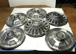 1967-68-69 Plymouth 14-inch Hubcap Wheel Covers Vintage Original Lot Of 5 Used