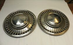 1961 Ford Vintage Factory Original Oem 14-1inch Hubcap Wheel Covers Lot Of 2