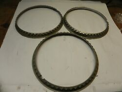 1940-41-42-46-47-48 Ford Vintage Oem 16-inch Stainless Beauty Glamour Rings Used