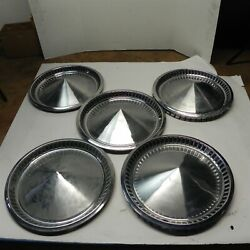 1957 Plymouth 15 Hubcap Wheel Covers Vintage Original Factory Oem Lot Of 5 Used