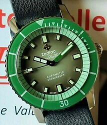 Zodiac Super Sea Wolf Watch Sold Out Green Limited Edition Of 82 Pieces Zo9278gr