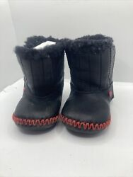 Ugg Star Wars Darth Vader Infant Baby Black Leather Boots Size 2/3 Fast Shipping