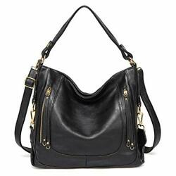 Hobo Bags for Women Kasqo Large Leather Handbags Shoulder Top Handle Bag with $46.47