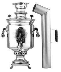 Antique Charcoal Authentic Old Russian Samovar | 7l | Factory Batashev, Nickel