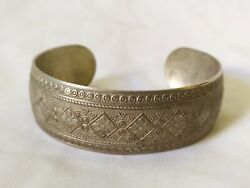 Ancient Bracelet Vintage-antique Viking Style Silver Color Old Jewelry Very Rare