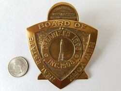 Rare Bronze Clip Real Estate Board Of Ny Complements Of Chrysler Building Corp.