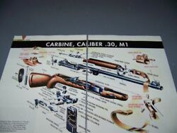 History..m1 Garand .30 Cal Carbine... 2-page Color Exploded View Cutaway..882w