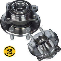2x Front Wheel Bearing And Hub Assembly For Chevy Colorado Gmc Canyon 6 Lug 4wd