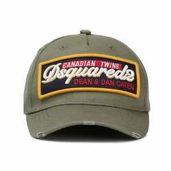 Dsquared2   Patch Cargo Bcm0249 Canadian Twins Raised Logo Baseball Cap