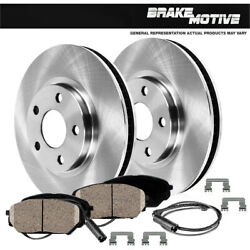 Front Quality Brake Disc Rotors And Ceramic Pads For 2007 Bmw 328i 328ci 2wd