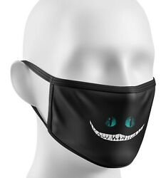 Cheshire Cat Smile Face Mask Covering Gift Washable Cover Double Layer