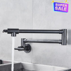 Orb Pot Filler Wall Mount Kitchen Sink Faucet Folding Swing Arm Only Cold Taps