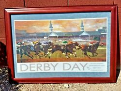 2005 Framed Kentucky Derby Day Churchill Downs Forbes Official Poster Print