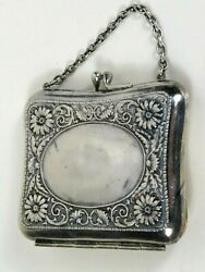 Antique Victorian Coin Purse 3 Compartments Lovely German Silver
