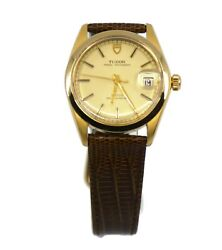 Tudor Oysterdate Two Tone Stainless Steel Watch