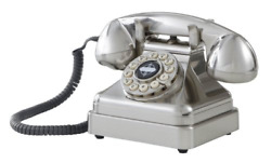 Crosley Cr62-bc Kettle Classic Desk Phone With Push Button Technology, Brushed
