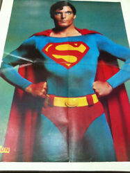 Superman Christopher Reeve Pin Up Magazine Poster India Indian Ultra Rare 1987