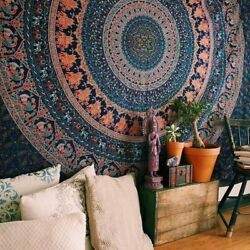 Indian Mandala Wall Hanging Bohemian Tapestry Bedspread 100%Cotton Tapestries
