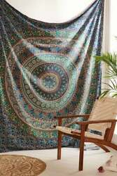 Bohemian Tapestry Indian Mandala Wall Hanging 100%Cotton Tapestries Bedspread