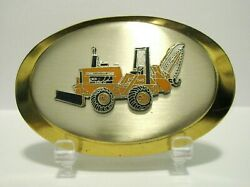 Case Davis Construction Dh5 Trencher Tractor Dress Brass Belt Buckle Cable Layer