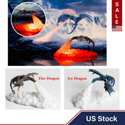 Usa 3d Fire-breathing Dragon Light Home Night Light Table Lamp Birthday Gifts