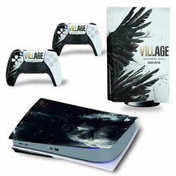 Sony Ps5 Console Resident Evil Village Skins Decals Controller New Vinyl Covers