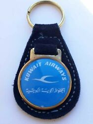Vintage Rare Kuwait Airways Special Edition Keychain Airlines Medal Badge 1980s