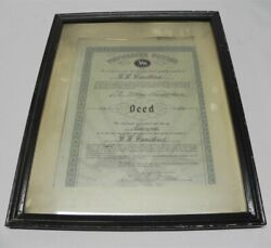 1974 Jack Daniels Tennesse Square Land Deed Carstens Gm Chevy Dealership Display