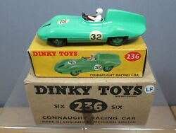 Vintage Dinky Toys Model No.236 Trade Box Of 6 Connaught Racing Car  Mib