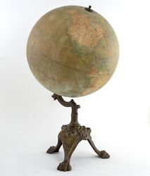 1880 Girard And Boitte French Antique Terrestrial Globe 14 Inches