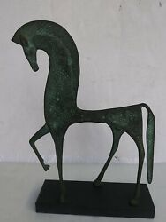 Mid Century Cast Iron Weinberg Etruscan Horse Sculpture Raymor Eames H-11 W-7