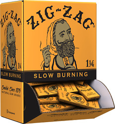 Zig-zag Rolling Papers French Orange 1 1/4 Promo Display 48 Booklets