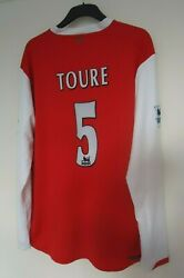 Arsenal Official Football Shirt By Nike Toure No 5 Player Spec - 2006/07