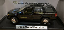 Motor Max 1:18 Scale Die cast Black Jeep Grand Cherokee Limited