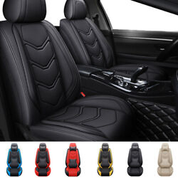 3D Universal Car Seat Cover Full Set Texture PU Leather For Front Rear 5 Seats $82.99