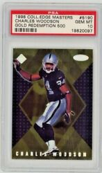 1998 Collectorand039s Edge Charles Woodson Masters S190 Rc Gold Pop 1 Psa 10 /500