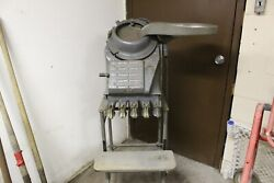 Vintage 1950s Standard Johnson Coin Counter Machine W/ Cart And Feeder Tray