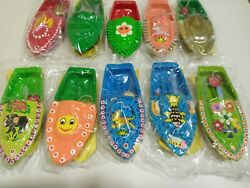 Put Put Steam Boat Pop India Toy Kids Recycled Tin Hand Painted/assembled 10 Pcs