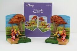 Winnie And Pooh And Friends 3d Bookends Rare Collectible Disney Hallmark Retired