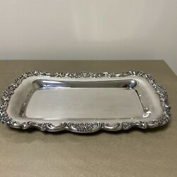Poole Silver Lancaster Rose 13 Bread Tray
