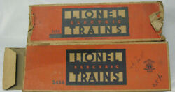 Lionel 2454 Box Carused Box Only2orange And Blue