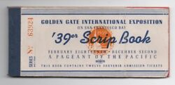 1939 Book Of Tickets From The Ggie World's Fair San Francisco Ca