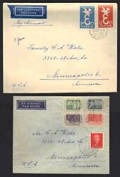 Netherlands 1950's Us 4 Comm. Airmail Cvrs Various Frankings To Ohio And Minnesota